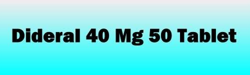 Dideral 40 Mg 50 Tablet